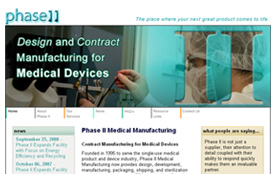 Kirk helps Phase II Medical Manufacturing to drive the volume and quality of traffic to its Web site